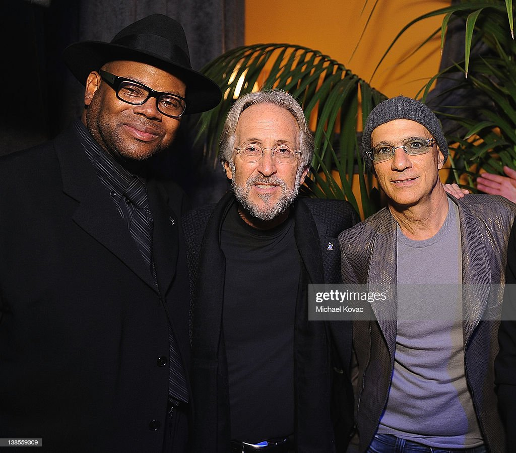 Producer <a gi-track='captionPersonalityLinkClicked' href=/galleries/search?phrase=Jimmy+Jam&family=editorial&specificpeople=211251 ng-click='$event.stopPropagation()'>Jimmy Jam</a>, President/CEO of The Recording Academy <a gi-track='captionPersonalityLinkClicked' href=/galleries/search?phrase=Neil+Portnow&family=editorial&specificpeople=208909 ng-click='$event.stopPropagation()'>Neil Portnow</a>, and producer <a gi-track='captionPersonalityLinkClicked' href=/galleries/search?phrase=Jimmy+Iovine&family=editorial&specificpeople=850753 ng-click='$event.stopPropagation()'>Jimmy Iovine</a> attend the P&E Wing Event at The Village Recording Studios on February 8, 2012 in Los Angeles, California.