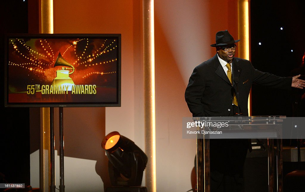 Producer Jimmy Jam speaks onstage at the The 55th Annual GRAMMY Awards at Nokia Theatre on February 10, 2013 in Los Angeles, California.