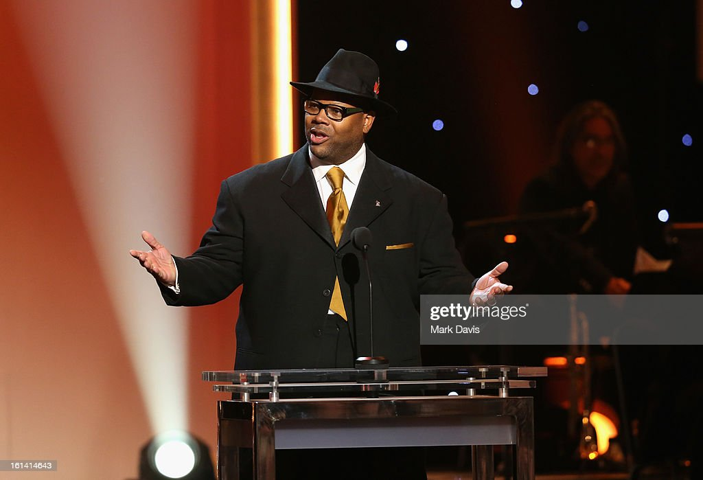 Producer Jimmy Jam speaks onstage during the 55th Annual GRAMMY Awards Pre-Telecast at Nokia Theatre L.A. Live on February 10, 2013 in Los Angeles, California.