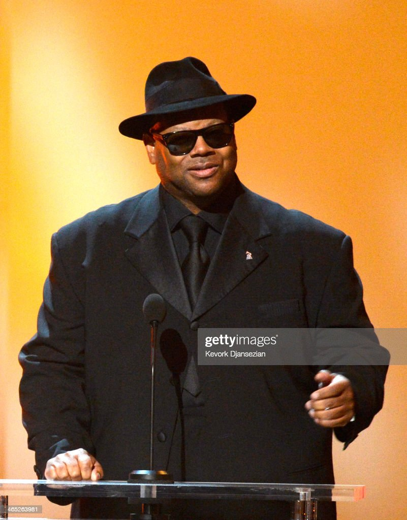 Producer Jimmy Jam speaks onstage during the 56th GRAMMY Awards PreTelecast Show at Nokia Theatre LA Live on January 26 2014 in Los Angeles California