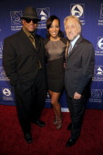 Producer Jimmy Jam TV personality Shaun Robinson and National Academy of Recording Arts and Sciences president Neil Portnow attend the 53rd Annual...