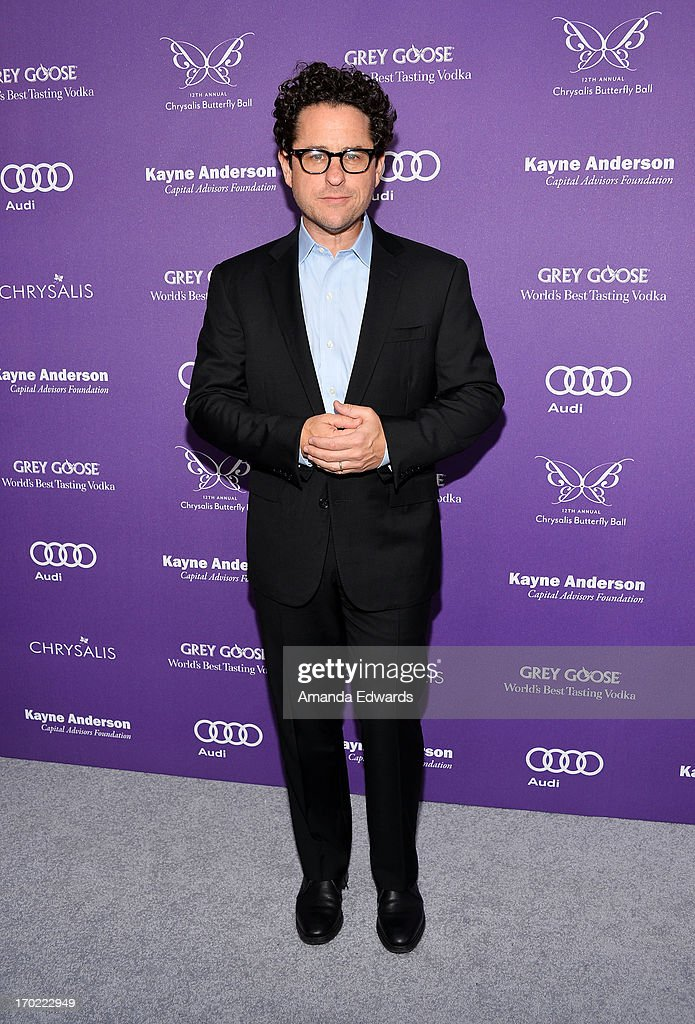 Producer <a gi-track='captionPersonalityLinkClicked' href=/galleries/search?phrase=J.J.+Abrams&family=editorial&specificpeople=253632 ng-click='$event.stopPropagation()'>J.J. Abrams</a> arrives at the 12th Annual Chrysalis Butterfly Ball on June 8, 2013 in Los Angeles, California.