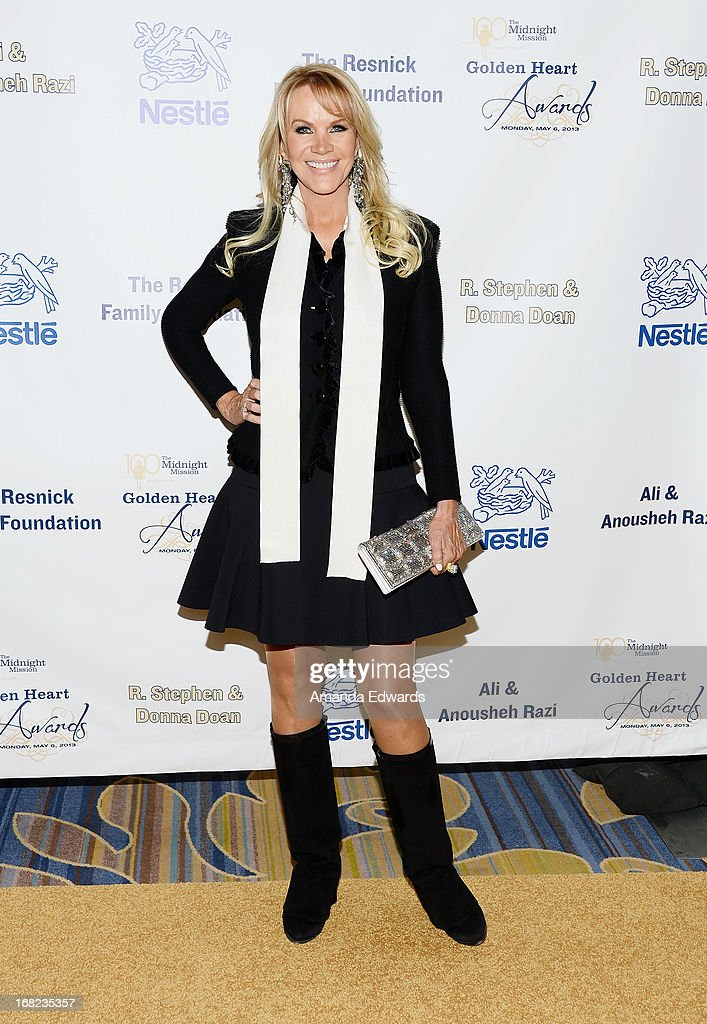 Producer Joan Dangerfield arrives at the Midnight Mission's 'Golden Heart Awards' honoring Tim Allen and Jason Sinay at the Beverly Wilshire Four Seasons Hotel on May 6, 2013 in Beverly Hills, California.