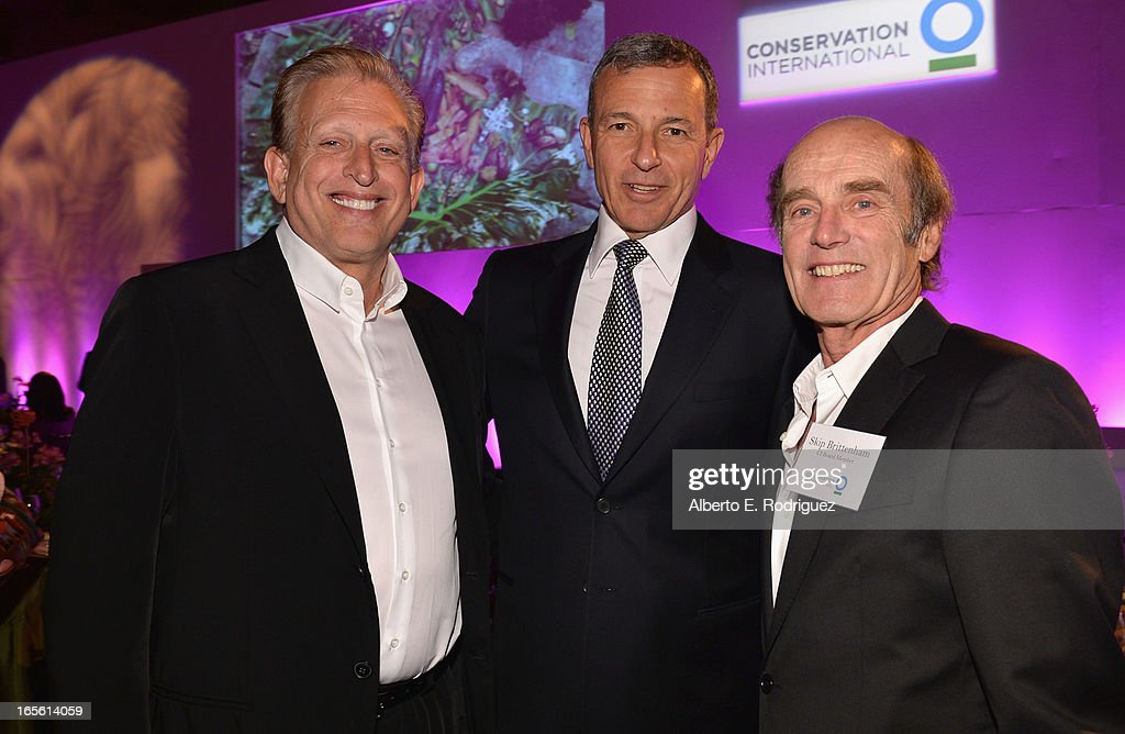 Producer Joe Roth, Chairman and CEO of The Walt Disney Company Bob Iger and Attorney Skip Brittenham attend Conservation International's 17th Annual Los Angeles Dinner at Montage Beverly Hills on April 4, 2013 in Beverly Hills, California.