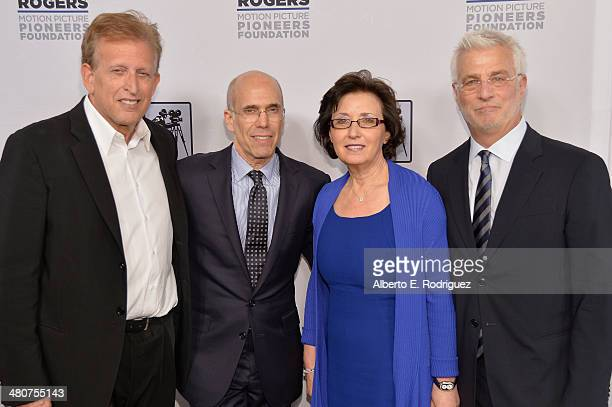 Producer Joe Roth DreamWorks Animation CEO Jeffrey Katzenberg Madeline Sherak and Lionsgate Motion Picture Group CoChairman Rob Friedman attend 2014...