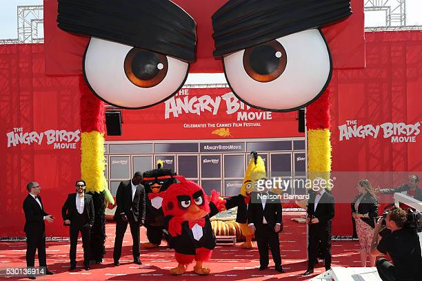 Producer John Cohen singer Timur Rodriguez actor Omar Sy actors Josh Gad actor Maccio Capatonda and TV presenter Raya Abirached attend 'The Angry...
