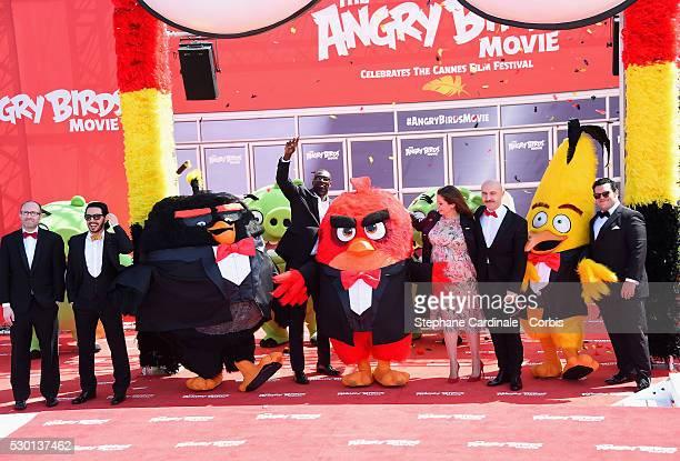 Producer John Cohen Singer Timur Rodriguez actor Omar Sy TV presenter Raya Abirached actors Maccio Capatonda and Josh Gadattend 'The Angry Birds...
