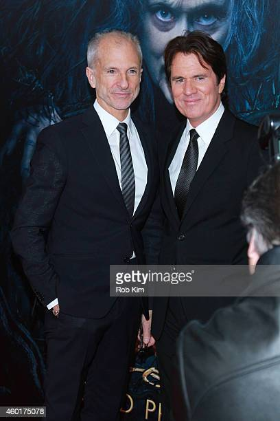 Producer John DeLuca and director Rob Marshall attend 'Into The Woods' World Premiere Outside Arrivals at Ziegfeld Theater on December 8 2014 in New...