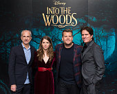 LONDON ENGLAND DECEMBER 12 Producer John DeLuca Anna Kendrick James Corden and Director Rob Marshall attend a photocall for 'Into The Woods' at...