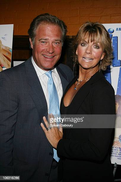 producer John James with wife Denise during Preview screening of 'Illegal Aliens' at Tribeca Cinemas in New York New York United States