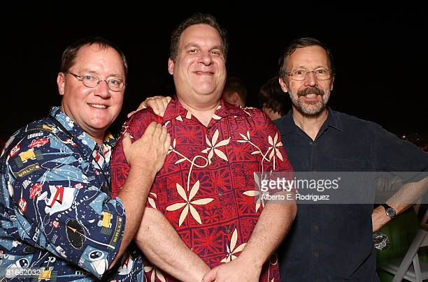 Producer John Lasseter actor Jeff Garlin and Pixar's Ed Catmull attend the after party for the world premiere of DisneyPixar's film WallE held at the...