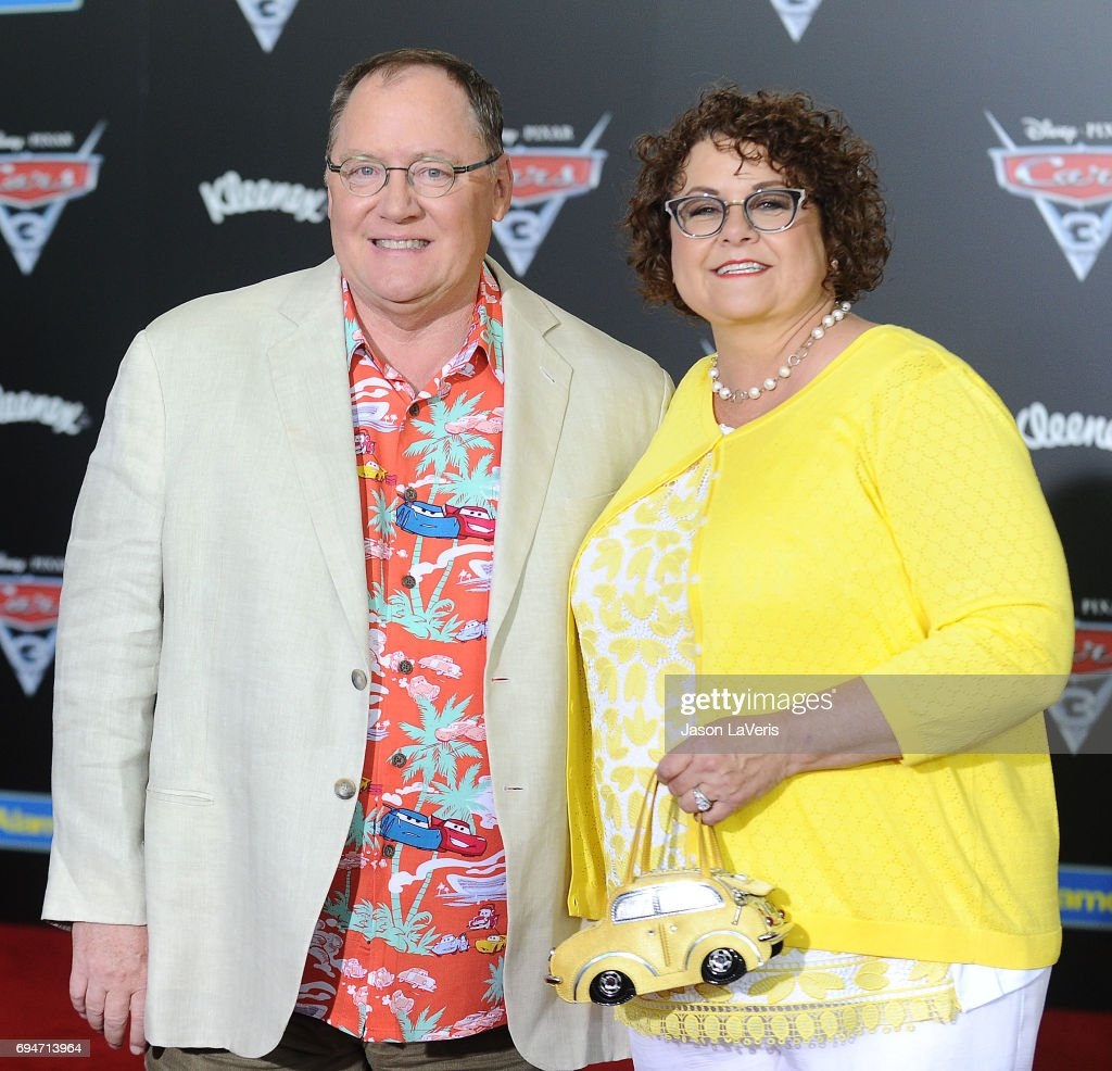 Producer John Lasseter and wife Nancy Lasseter attend the premiere of 'Cars 3' at Anaheim Convention Center on June 10, 2017 in Anaheim, California.
