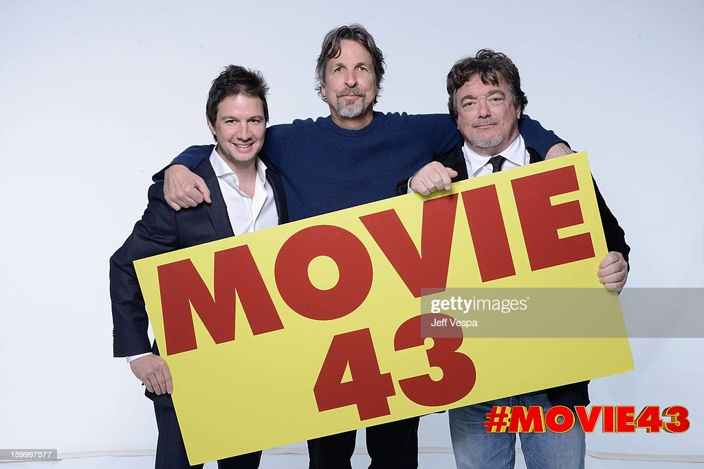 Producer John Penotti, Director Peter Farrelly and Charlie Wessler pose for a portrait during Relativity Media's 'Movie 43' Los Angeles premiere at TCL Chinese Theatre on January 23, 2013 in Hollywood, California.