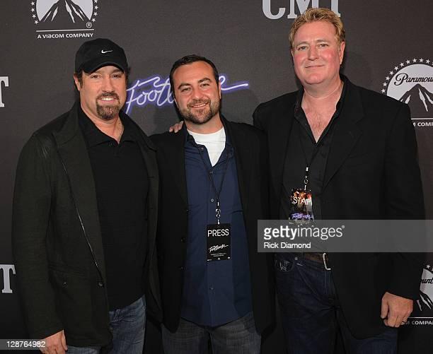 Producer John Shanks Atlantic Records Kevin Weaver and Paramont Randy Spendlove attend FOOTLOOSE Nashville screening on October 6 2011 in Nashville...