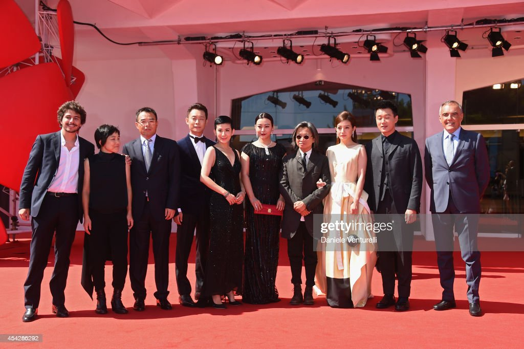 Producer Jojo Hui, guest, actors <a gi-track='captionPersonalityLinkClicked' href=/galleries/search?phrase=Zhang+Yi+-+Actor&family=editorial&specificpeople=13530014 ng-click='$event.stopPropagation()'>Zhang Yi</a>, <a gi-track='captionPersonalityLinkClicked' href=/galleries/search?phrase=Sandra+Ng&family=editorial&specificpeople=697021 ng-click='$event.stopPropagation()'>Sandra Ng</a>, Lei Hao director Peter Ho-sun Chan, actors <a gi-track='captionPersonalityLinkClicked' href=/galleries/search?phrase=Zhao+Wei&family=editorial&specificpeople=540140 ng-click='$event.stopPropagation()'>Zhao Wei</a>, <a gi-track='captionPersonalityLinkClicked' href=/galleries/search?phrase=Tong+Dawei&family=editorial&specificpeople=4384400 ng-click='$event.stopPropagation()'>Tong Dawei</a> and Director of the Venice Film Festival <a gi-track='captionPersonalityLinkClicked' href=/galleries/search?phrase=Alberto+Barbera&family=editorial&specificpeople=6900426 ng-click='$event.stopPropagation()'>Alberto Barbera</a> attend 'Dearest' (Quin'ai De) Premiere during the 71st Venice Film Festival on August 28, 2014 in Venice, Italy.