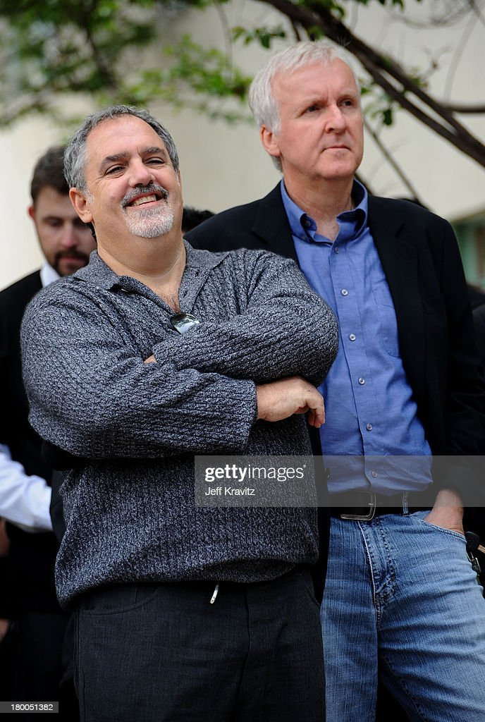 Producer Jon Landau and director James Cameron plant first tree in North America symbolizing the one million tree initiative on behalf of the Avatar...