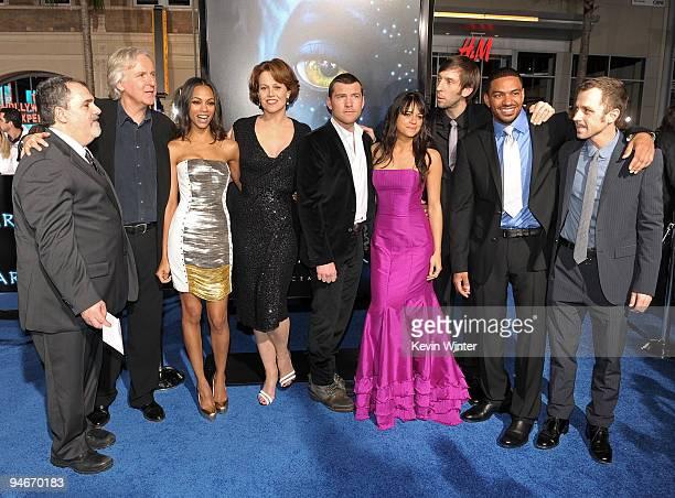 Producer Jon Landau director James Cameron actors Zoe Saldana Sigourney Weaver Sam Worthington Michelle Rodriguez Joel Moore Laz Alonso and Giovanni...