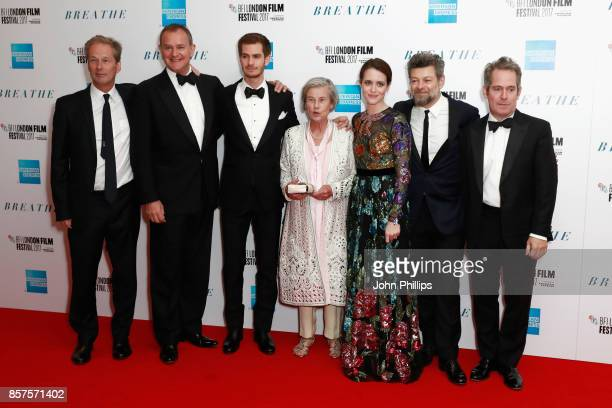 Producer Jonathan Cavendish actors Hugh Bonneville Andrew Garfield Diana Cavendish actress Claire Foy director Andy Serkis and actor Tom Hollander...