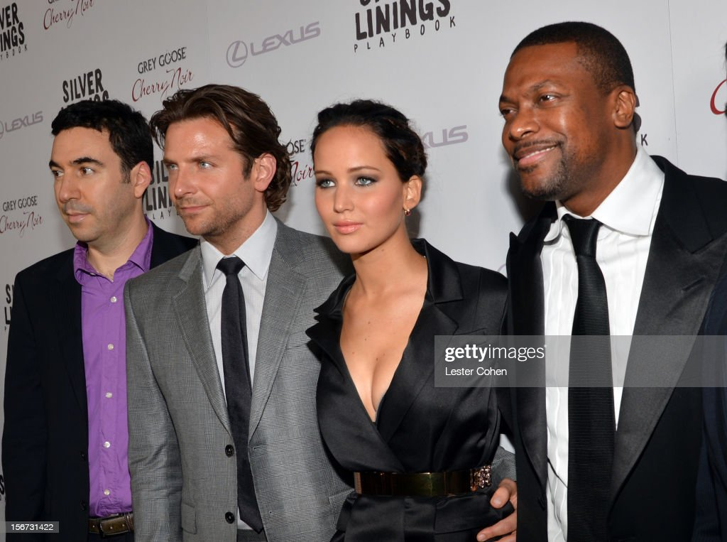 Producer Jonathan Gordon, actors Bradley Cooper, Jennifer Lawrence, and Chris Tucker attend the 'Silver Linings Playbook' Los Angeles special screening at the Academy of Motion Picture Arts and Sciences on November 19, 2012 in Beverly Hills, California.