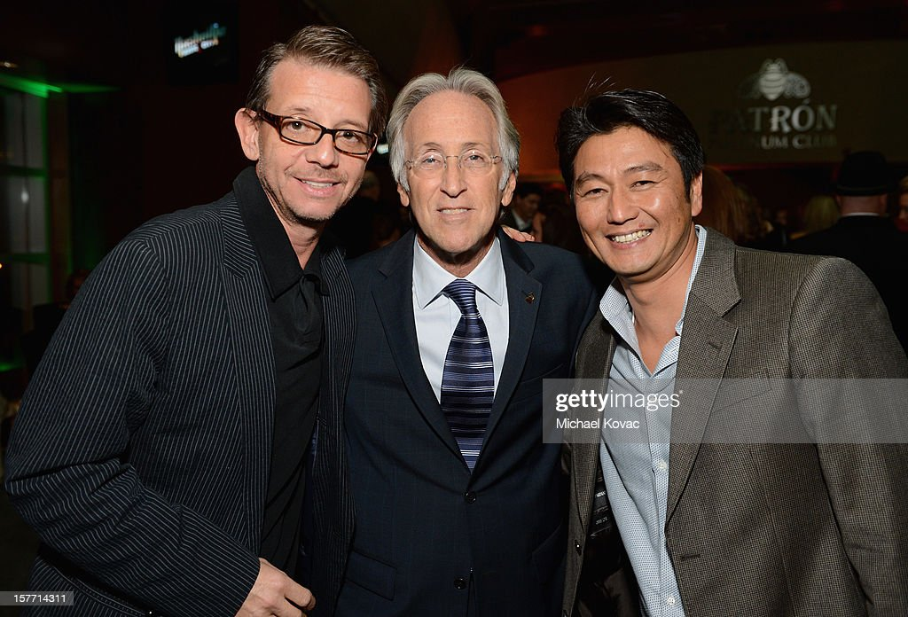 Producer Jonathan McHugh, President/CEO of The Recording Academy <a gi-track='captionPersonalityLinkClicked' href=/galleries/search?phrase=Neil+Portnow&family=editorial&specificpeople=208909 ng-click='$event.stopPropagation()'>Neil Portnow</a> and Acey Kohrogi attend The GRAMMY Nominations Concert Live!! pre-show reception held at Bridgestone Arena on December 5, 2012 in Nashville, Tennessee.