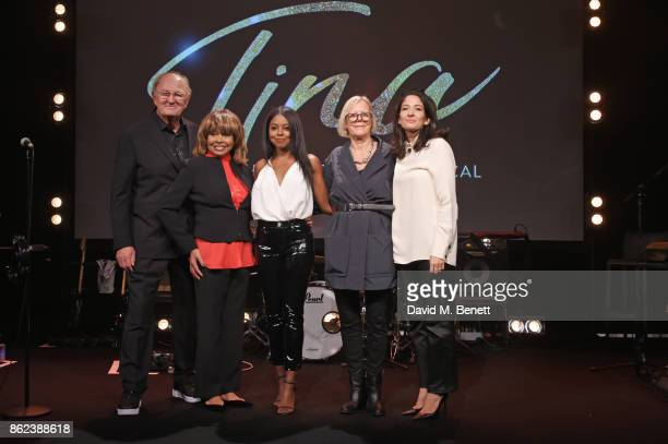 Producer Joop van den Ende Tina Turner actress Adrienne Warren director Phyllida Lloyd and producer Tali Pelman pose at a photocall for 'Tina The...