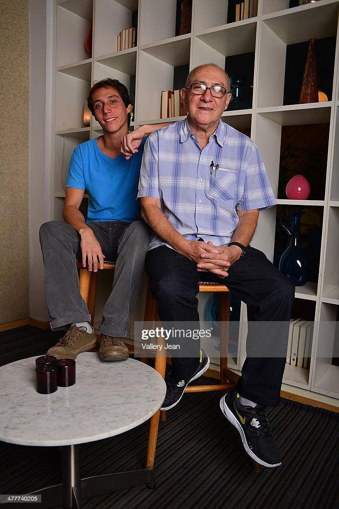 Producer Jorge Duran and film maker Gabriel Duran pose for a portrait session promoting they new film 'Memories of the Desert' during the Miami International Film Festival 2014 at The Standard on March 10, 2014 in Miami Beach, Florida.