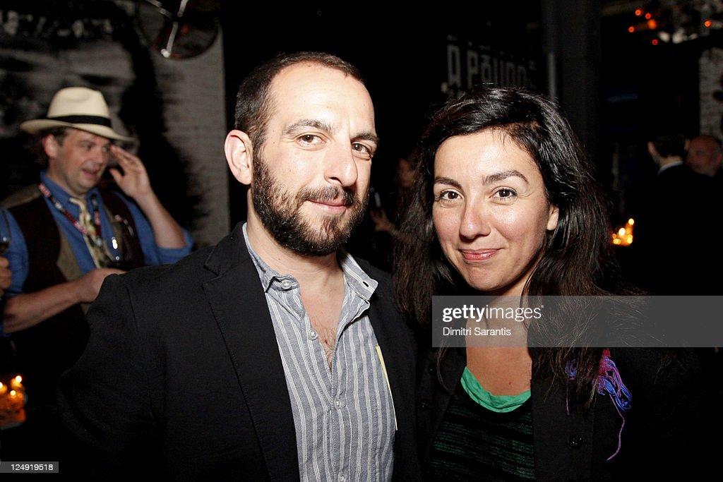 Producer Josh Berghaus (L) and actress Donna Messinger attends 'City to City Cocktail Party' at F-Stop during the 2011 Toronto International Film Festival at F-Stop on September 13, 2011 in Toronto, Canada.