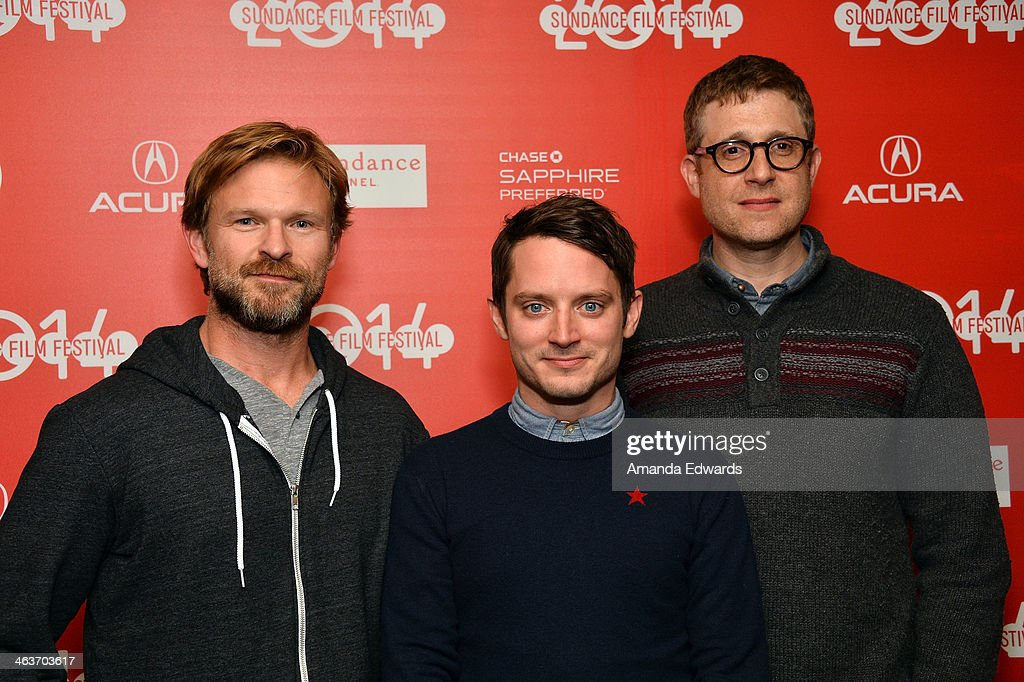 Producer Josh C. Waller, actor <a gi-track='captionPersonalityLinkClicked' href=/galleries/search?phrase=Elijah+Wood&family=editorial&specificpeople=171364 ng-click='$event.stopPropagation()'>Elijah Wood</a> and producer <a gi-track='captionPersonalityLinkClicked' href=/galleries/search?phrase=Daniel+Noah&family=editorial&specificpeople=10948795 ng-click='$event.stopPropagation()'>Daniel Noah</a> attend the 'Coties' premiere at the Egyptian Theatre on January 18, 2014 in Park City, Utah.