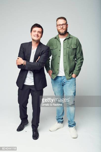Producer Josh Hutcherson and executive producer/director Seth Rogan of Hulu's 'Future Man' pose for a portrait during the 2017 Summer Television...