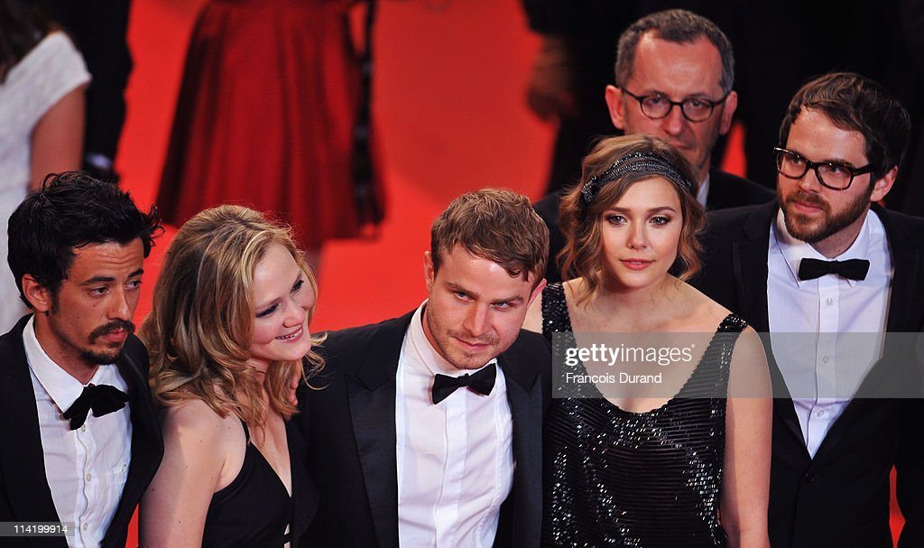 Producer Josh Mond, actors Louisa Krause, Brady Corbet, actress Elizabeth Olsen and Director Sean Durkin attend the 'Martha Marcy May Marlene' premiere during the 64th Cannes Film Festival at the Palais des Festivals on May 15, 2011 in Cannes, France.