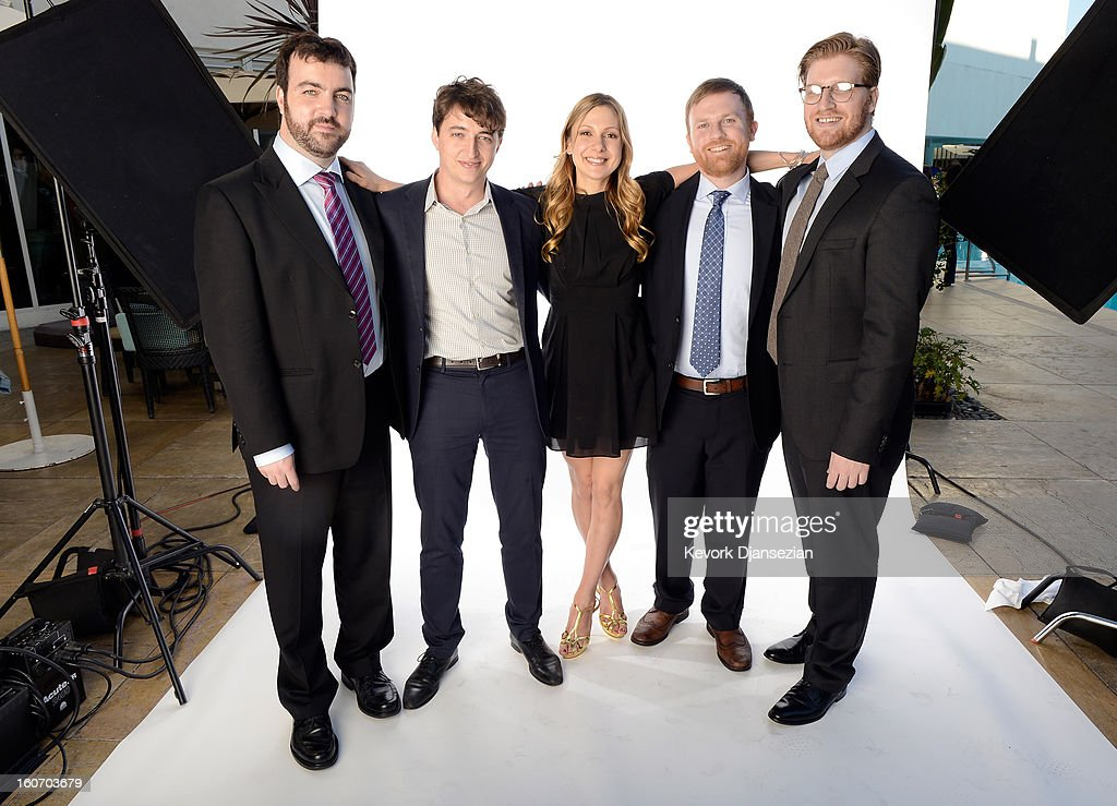 Producer Josh Penn; writer/director <a gi-track='captionPersonalityLinkClicked' href=/galleries/search?phrase=Benh+Zeitlin&family=editorial&specificpeople=6711208 ng-click='$event.stopPropagation()'>Benh Zeitlin</a>; writer Lucy Alibar; producer Michael Gottwald; and producer Dan Janvey pose for a portrait during the 85th Academy Awards Nominations Luncheon at The Beverly Hilton Hotel on February 4, 2013 in Beverly Hills, California.