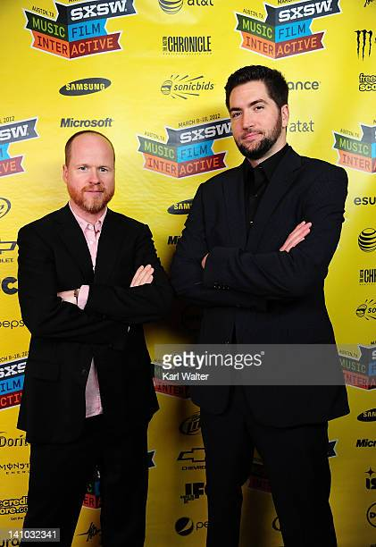 Producer Joss Whedon and director Drew Goddard attend the World Premiere of 'The Cabin in the Woods' at Paramount Theatre on March 9 2012 in Austin...