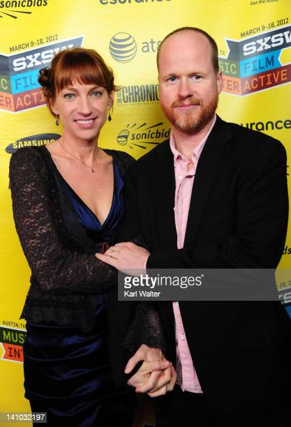 Producer Joss Whedon and Kai Cole attend the World Premiere of 'The Cabin in the Woods' at Paramount Theatre on March 9 2012 in Austin Texas