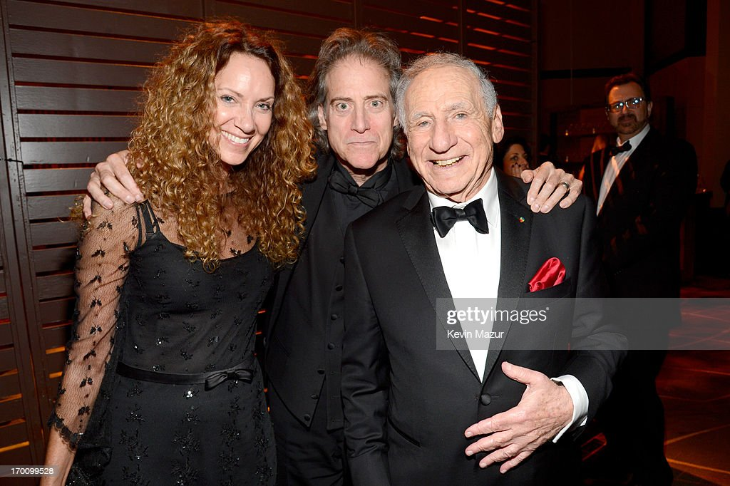 Producer Joyce Lapinsky, actor/comedian Richard Lewis, and honoree Mel Brooks attend the after party for AFI's 41st Life Achievement Award Tribute to Mel Brooks at Dolby Theatre on June 6, 2013 in Hollywood, California. 23647_004_KM_1940.JPG