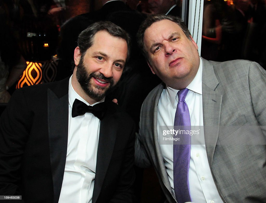 Producer Judd Apatow and actor Jeff Garlin attend HBO's Official Golden Globe Awards After Party held at Circa 55 Restaurant at The Beverly Hilton Hotel on January 13, 2013 in Beverly Hills, California.