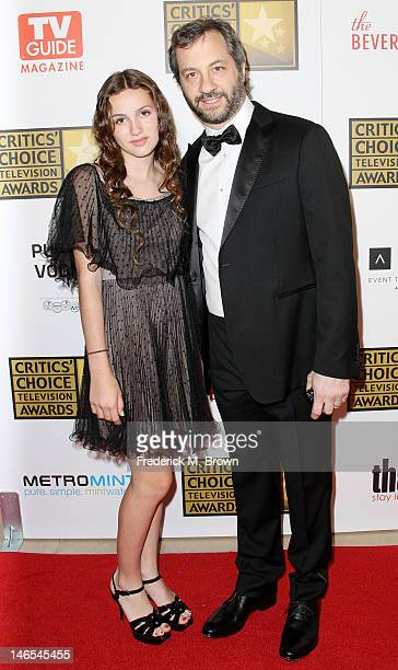 Producer Judd Apatow and his daughter Maude Apatow attend the Broadcast Television Journalists Association Second Annual Critics' Choice Awards at...