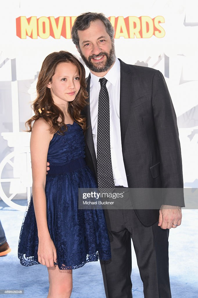 Producer Judd Apatow and Iris Apatow attend The 2015 MTV Movie Awards at Nokia Theatre LA Live on April 12 2015 in Los Angeles California