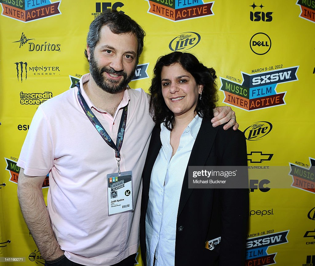 Producer <a gi-track='captionPersonalityLinkClicked' href=/galleries/search?phrase=Judd+Apatow&family=editorial&specificpeople=854225 ng-click='$event.stopPropagation()'>Judd Apatow</a> (L) and Producer Ilene Landress arrive to the screening of 'Girls' during the 2012 SXSW Music, Film + Interactive Festival at Paramount Theatre on March 12, 2012 in Austin, Texas.