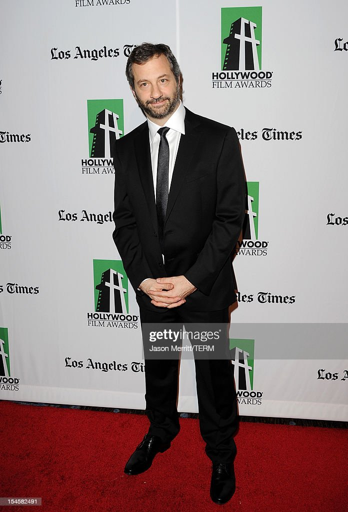 Producer <a gi-track='captionPersonalityLinkClicked' href=/galleries/search?phrase=Judd+Apatow&family=editorial&specificpeople=854225 ng-click='$event.stopPropagation()'>Judd Apatow</a> arrives at the 16th Annual Hollywood Film Awards Gala presented by The Los Angeles Times held at The Beverly Hilton Hotel on October 22, 2012 in Beverly Hills, California.