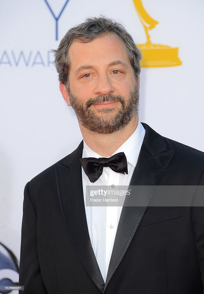 Producer <a gi-track='captionPersonalityLinkClicked' href=/galleries/search?phrase=Judd+Apatow&family=editorial&specificpeople=854225 ng-click='$event.stopPropagation()'>Judd Apatow</a> arrives at the 64th Annual Primetime Emmy Awards at Nokia Theatre L.A. Live on September 23, 2012 in Los Angeles, California.