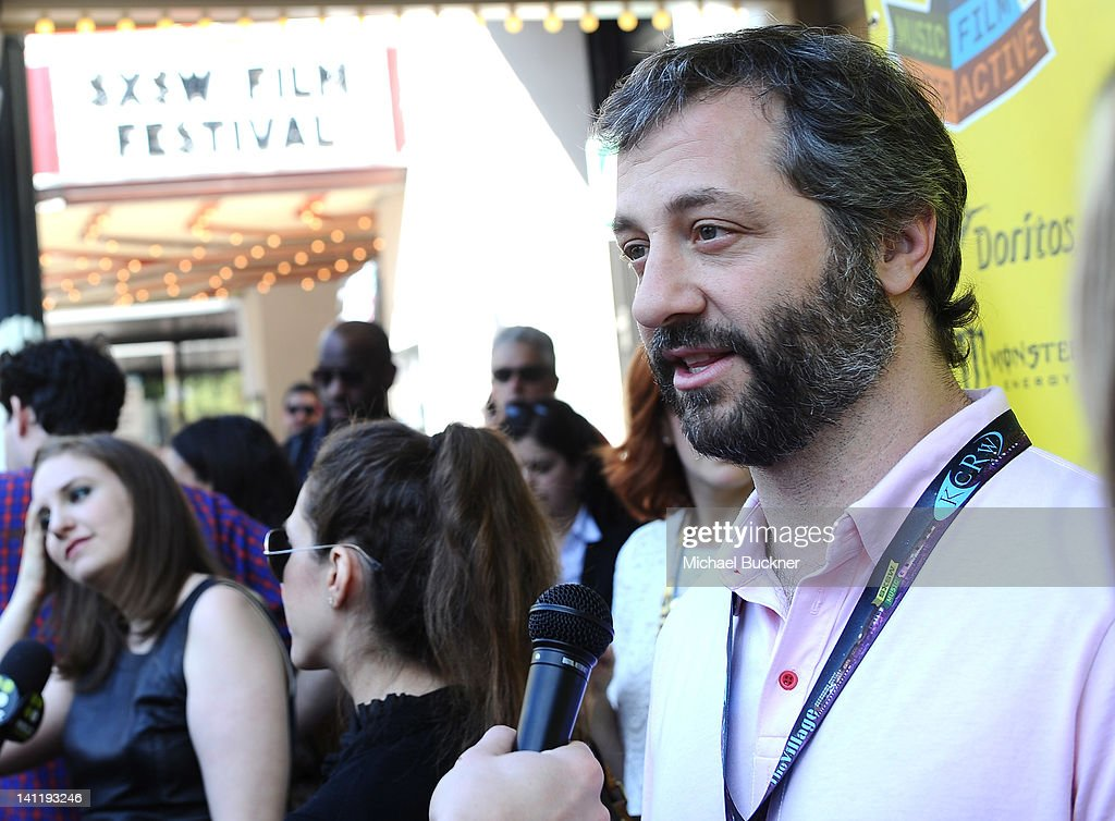 Producer <a gi-track='captionPersonalityLinkClicked' href=/galleries/search?phrase=Judd+Apatow&family=editorial&specificpeople=854225 ng-click='$event.stopPropagation()'>Judd Apatow</a> arrives to the screening of 'Girls' during the 2012 SXSW Music, Film + Interactive Festival at Paramount Theatre on March 12, 2012 in Austin, Texas.