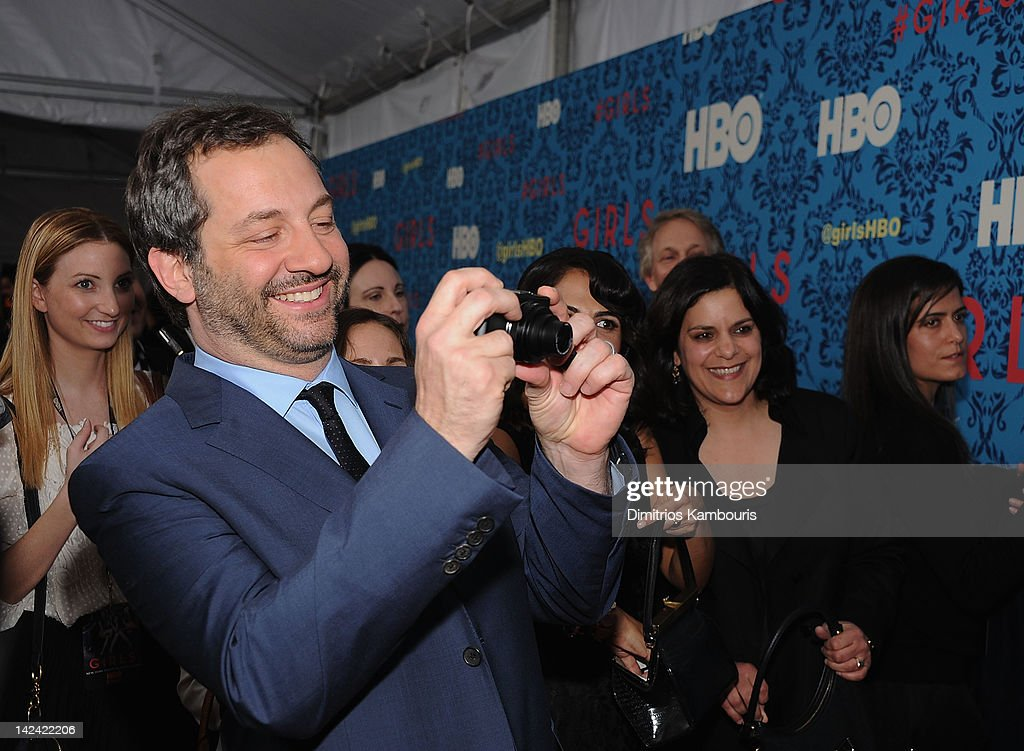 Producer <a gi-track='captionPersonalityLinkClicked' href=/galleries/search?phrase=Judd+Apatow&family=editorial&specificpeople=854225 ng-click='$event.stopPropagation()'>Judd Apatow</a> attends the HBO with the Cinema Society host the New York premiere of HBO's 'Girls' at the School of Visual Arts Theater on April 4, 2012 in New York City.