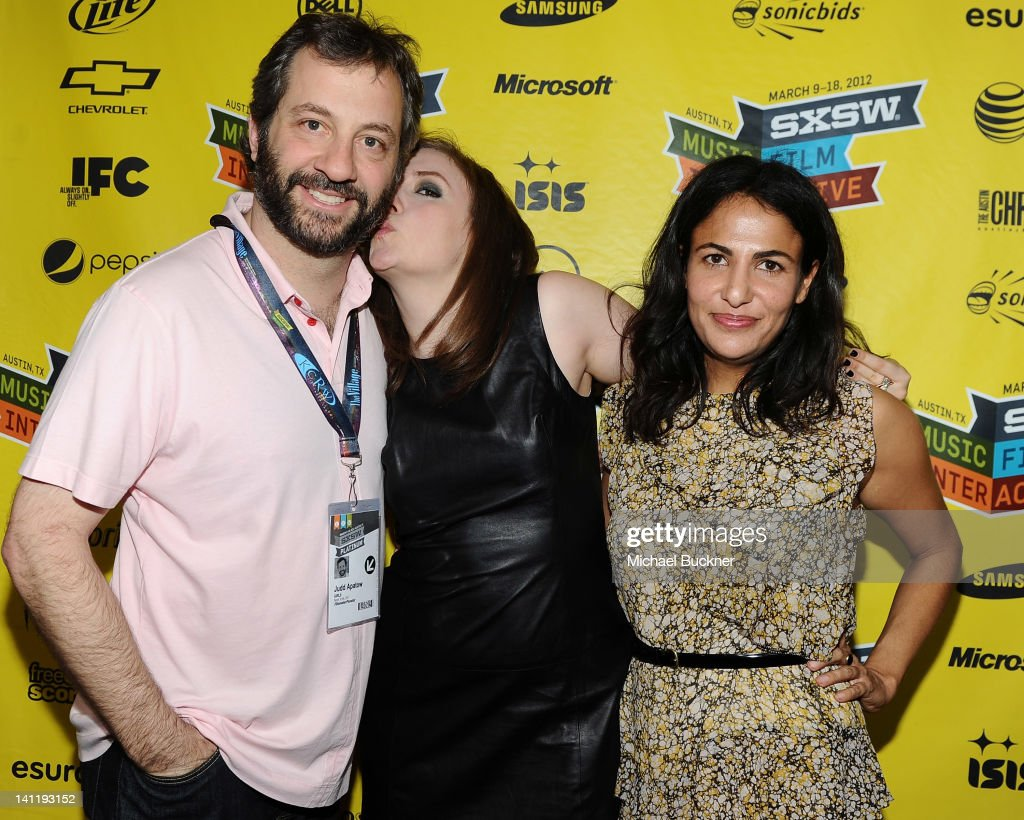Producer Judd Apatow Writer/Director/Actress Lena Dunham and writer Jenni Konner attend 'Girls' Greenroom Photo Op during the 2012 SXSW Music Film...