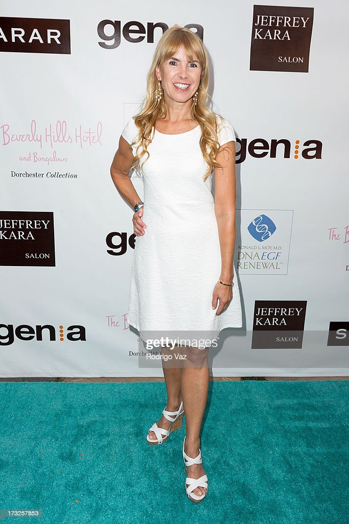 Producer Julia Verdin arrives at 'The Fountain Of Youth White Party' to celebrate