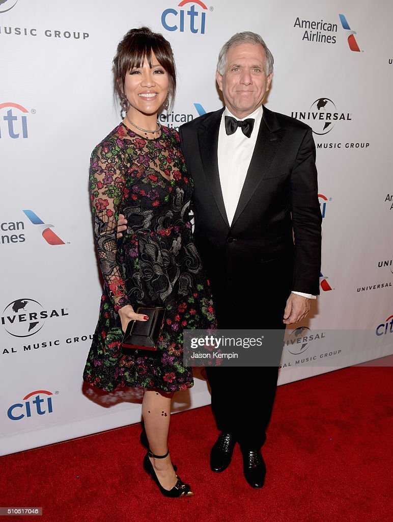 Producer Julie Chen and President of CBS Leslie Moonves attend Universal Music Group 2016 Grammy After Party presented by American Airlines and Citi...