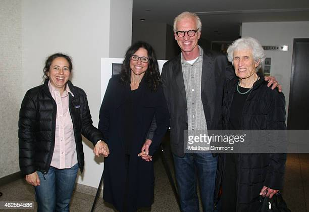 Producer Julie Snyder producer Julia LouisDreyfus Brad Hall and Sally Hall attend a screening of 'Generosity of Eye' at the SB Museum of Art at the...