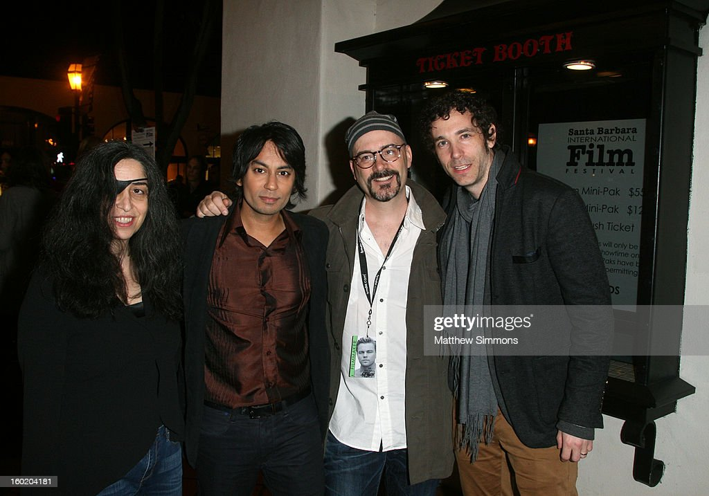 Producer Juliette Hagopian, actor Vik Sahay, director Sean Garrity and actor Jonas Chernick attend the premiere of 'My Awkward Sexual Adventure' at the Metro 4 Theatre during the 28th Santa Barbara International Film Festival on January 25, 2013 in Santa Barbara, California.