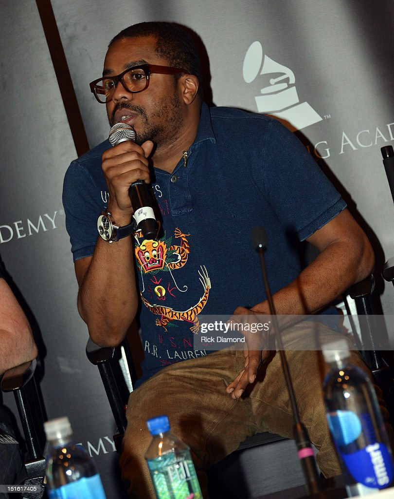 Producer Justin 'Just Blaze' Smith during GRAMMY GPS - A Road Map For Today's Music Pro at W Atlanta Buckhead on September 8, 2012 in Atlanta, Georgia.