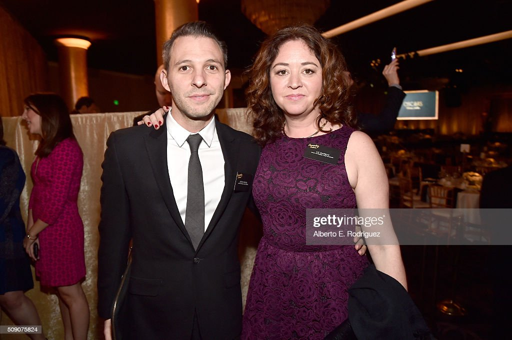 Producer Justin Wilkes (L) and director/producer Liz Garbus attends the 88th Annual Academy Awards nominee luncheon on February 8, 2016 in Beverly Hills, California.