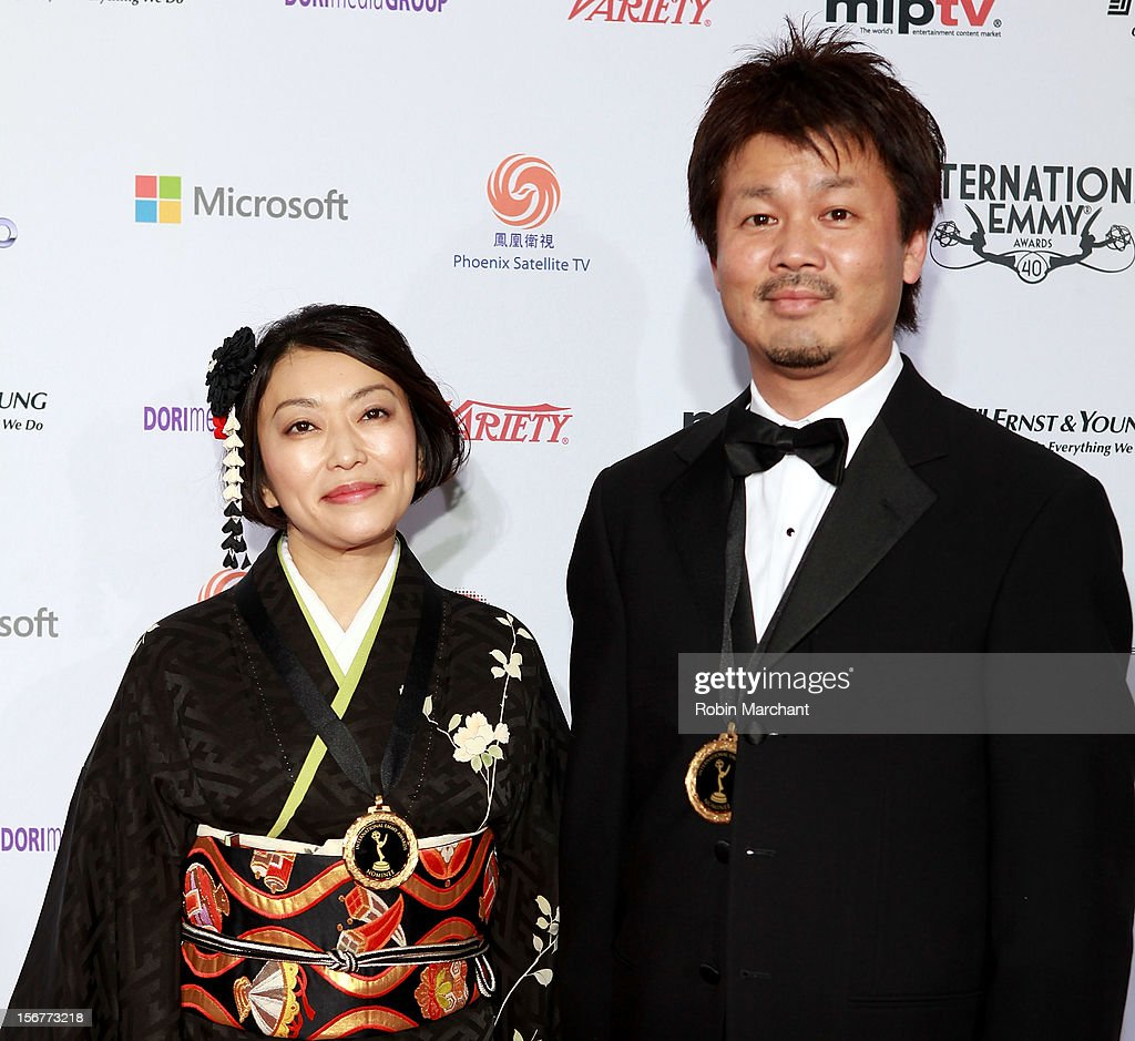 Producer Kaori Togashi (L) and director Muneyoshi Nowara attend the 40th International Emmy Awards on November 19, 2012 in New York City.